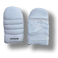 Kensho Bag Gloves, leather, white, M
